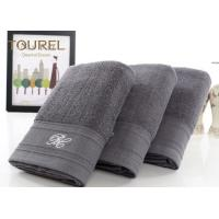 Quality Luxury 5 Star Hotel Bath Towels100% Cotton Light Black With Bamboo Fibre for sale