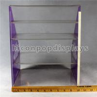 China Custom Signage Acrylic Display Case 4 Tier Acrylic Display Shelf  10.5 * 9.5 * 13 on sale