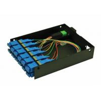 Quality Pre Terminated MPO Patch Panel , MPO Casette Rack Mount Patch Panel for sale