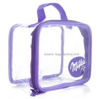 Quality Customised Clear PVC Tote See Through Promotional Cosmetic Bag For Sales Dispaly for sale