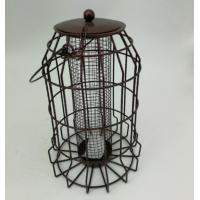 500g Hanging Feeder Metal Wire Cage / Anti Squirrel Bird Feeder Plastic Material