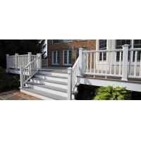 China Coffee Balcony Recycled Plastic WPC Deck Railing  With High Impact Resistant Low Mantain on sale