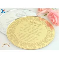 Quality Round Shape Acrylic Gifts / Acrylic Wedding Invitation Cards With Different Color for sale