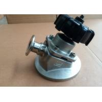 Aseptic Stainless Steel Sanitary Valves Tri Clamp Tank Bottom Valve With Low Turbulence for sale