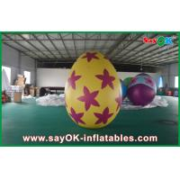 Quality Decoration Colorful Inflatable Egg Easter Festival Decoration with Print for sale