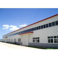 Quality High Durability Premade Steel Buildings , Metal Workshop Building Kits With Crane for sale