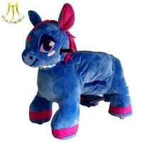 Quality Hansel best seller new design indoor and outdoor blue horse battery operated animal scooters for sale