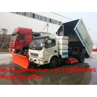 China 2018s new  factory price dongfeng 130hp diesel road sweeping cleaning truck, street sweeper vacuum sweeping vehicle on sale