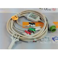 Quality 5 Leads Snap AHA ECG Patient Cable , Mindray 12 Pin One Piece ECG Cable for sale