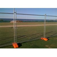 Quality Galvanized Steel Temporary Mesh Fencing 2.4x 2.1 Meter For Sporting Events for sale