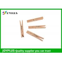 Quality Safety Household Plastic Clothes Pegs Wooden Clips For Clothes OEM / ODM Available for sale