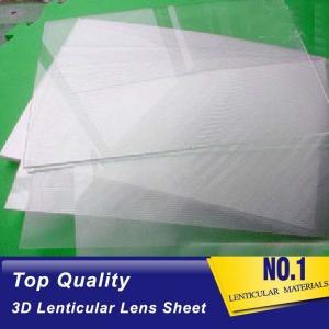 Quality Plastic  Lens PS/PET/PP Material 75/100/161 Lpi 3d lenticular lens sheet lenticular printing films with 3d flip effect for sale