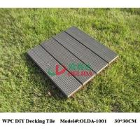 China Square Snap Together Patio Tiles , Composite Patio / Balcony / Pool Eco Decking Tiles on sale