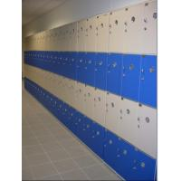 Quality PVC Material Blue School Lockers Durable Four Tier Lockers For Swimming Pool for sale
