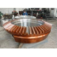 Quality Casting Steel Segment Straight Bevel Gear Wheel For Chemical Industrial / Mechanical for sale