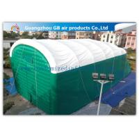 0.9mm Pvc Tarpaulin Green Inflatable Air Tent For Family Outdoor Events for sale