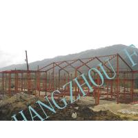Quality Clear Span Prefabricated Structural Steel Buildings Galvanized Painted Column for sale