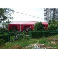 Quality 12M Red Fabric Cover Wedding Tent Decoration , Wedding Canopy Tent Aluminum Alloy Frame for sale