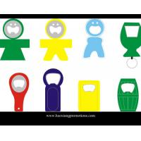 Quality Made in China Eco-friendly promotiona metal with PVC beer bottle opener for sale