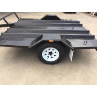 Quality Single Axle 8x6 Motorcycle Transport Trailer Two Place For Conveying Two Wheeler Bike for sale