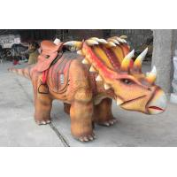 Quality Interactive Robotic Walking Triceratops Dinosaur Rides For Playground for sale