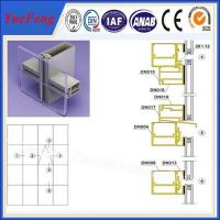 Quality Hot! ISO 9001 china supplier custom aluminum frameless curtain wall profiles for sale