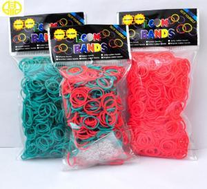 China Environmental Rainbow Loom Elastic Bands Food Grade Fresh Single Color on sale