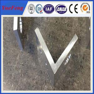 Quality aluminium profile corner joint / aluminum corner profile / aluminium rectangular extrusion for sale