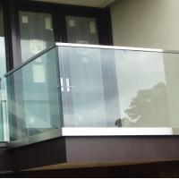 Buy cheap Exterior aluminum u channel base glass railing  for balcony 42.4mm stainless steel slot handrail from wholesalers