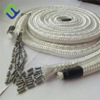 China Fishing lead rope with lead core and 16 strand PET braided cover for fishing net on sale