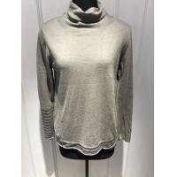 Quality Soft Grey Sweater Womens, Pullover Turtleneck Sweater For Spring for sale