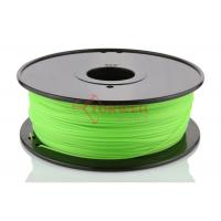 Quality Fluorescent Green 3D Printer ABS Filament Spool , Cubify Makerbot Filament for sale