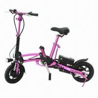 China Folding Electric Bicycle, CE and EN15194-approved, Made of Aluminum Magnesium Alloy on sale