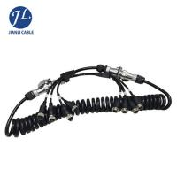 Quality Truck Rear View Camera System Truck Trailer Coiled Cable , Waterproof 7 Pin Cable for sale