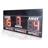 Quality Electronic 7 Segments LED Baseball Scoreboard Front Face UV Protection for sale