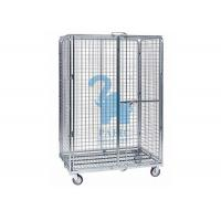 Quality Multi - Level Foldable Wire Mesh Storage Cages Wire Mesh Cart With Wheels for sale