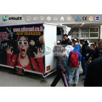 Quality 9 Motion Seats Mobile Trailer 5D Movie Theater , Truck Mobile 5D Cinema for sale