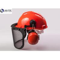 Quality Metallurgy PPE Safety Helmet , Industrial Safety Helmet With Face Protection for sale
