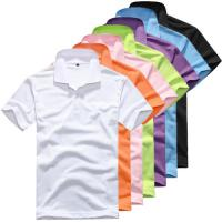Men's short-sleeved cotton T-shirt men bottoming shirt solid color for sale
