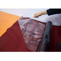 Buy cheap Auto Carpet Adhesive Protective Film , Transparent Carpet Protection Roll from wholesalers
