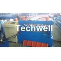Quality 0.3 - 0.8 mm Thick Roof Sheet Cold Roll Forming Machine with PLC Computer Control for sale