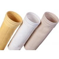 Quality Cement Silo Polyester Felt Filter Bag 2000 - 9000mm Length 190 Degree Working Temperature for sale