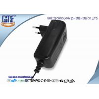 Buy cheap Flame-retardant PC material EU plug-in Wall Mounted 12V 2A 24W Switching Power Adatper with Indicating LED Light from wholesalers