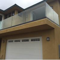 Quality Frameless tempered glass railing system glass balcony railing for sale for sale