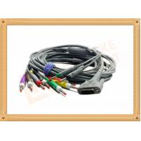 Quality DB9 15 Pin One Piece ECG Monitor Cable 10 Leadwires Banana IEC , No Toxic for sale
