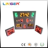 Quality 12'' Red Wireless Control Baseketball Digital LED Digital Clock With Waterproof Cabinet for sale