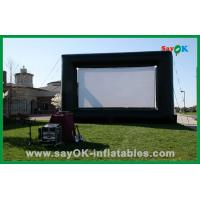Quality Outdoor Hot Selling 4X3M Oxford Cloth And Projection Cloth  Inflatable Movie Screen For Sale for sale