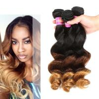Quality Peruvian Loose Wave Ombre Human Hair Extensions For Black Women for sale