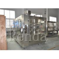 Quality SUS304 Fully Automatic Filling Machine , 15000BPH Beverage 3 In 1 Filling Machine for sale