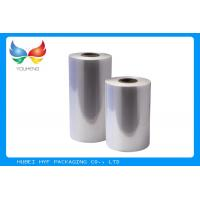 Quality 40 Mic Clear PVC Shrink Wrap Tube Film Rolls For Promo / Multipack Sleeves for sale